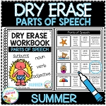 Dry Erase Parts of Speech Workbook: Summer ~Digital Download~